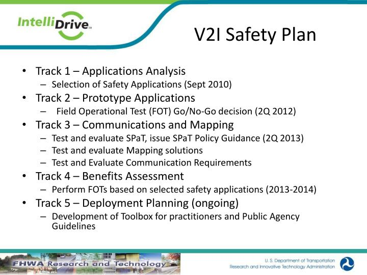 V2I Safety Plan