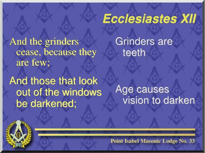 Grinders are teeth