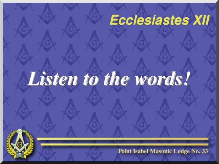 Listen to the words!