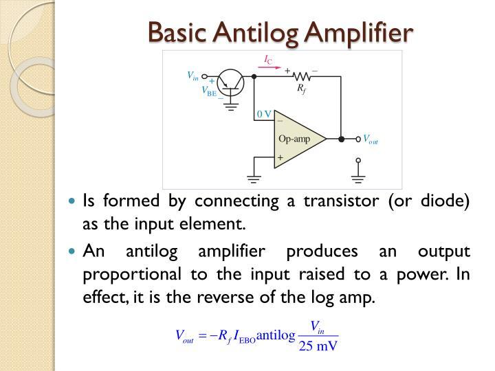 Basic Antilog Amplifier