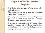 capacitor coupled isolation amplifier