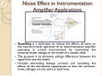 noise effect in instrumentation amplifier applications