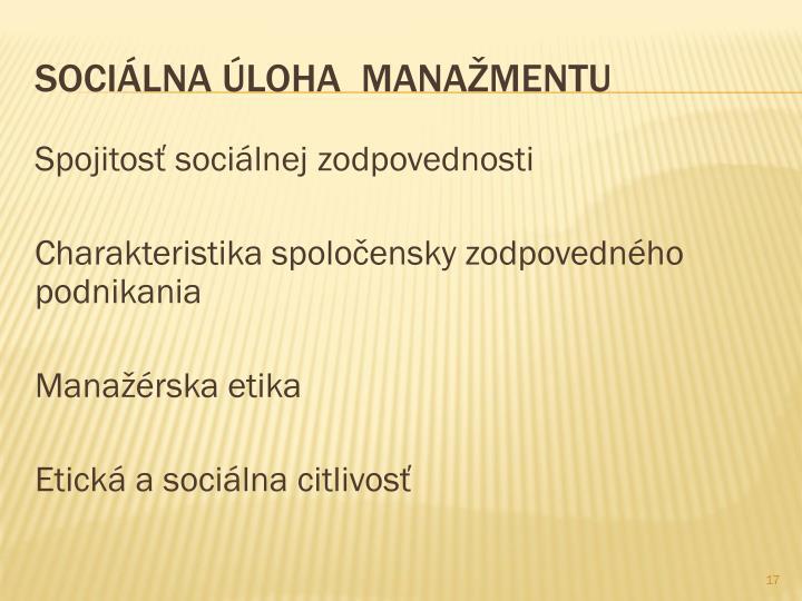 Spojitosť sociálnej