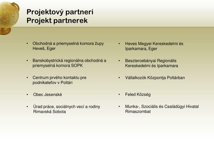 Projektový partneri