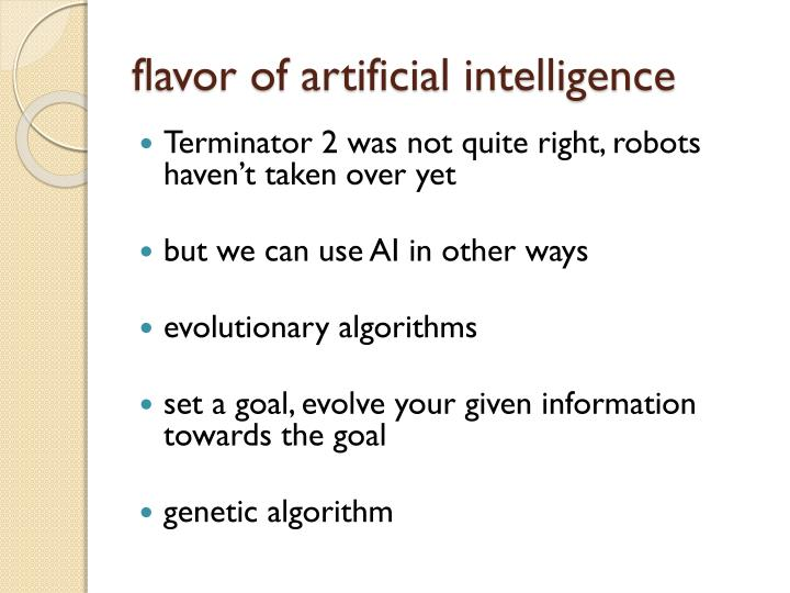flavor of artificial intelligence