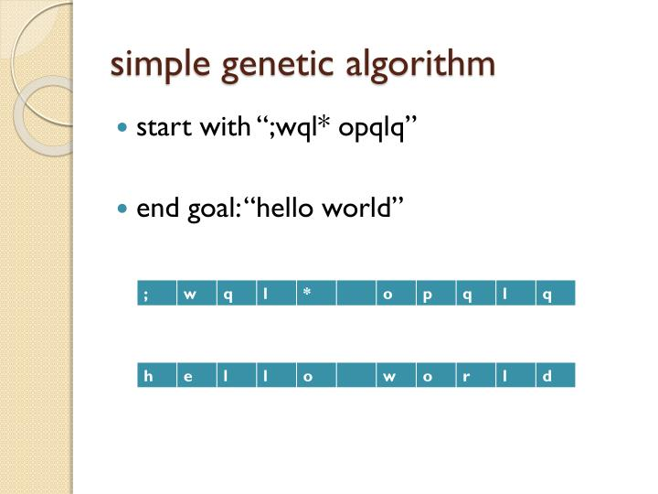 simple genetic algorithm