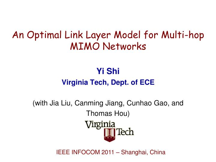An Optimal Link Layer Model