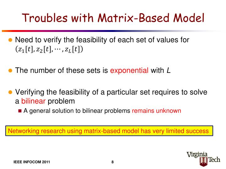 Troubles with Matrix-Based Model