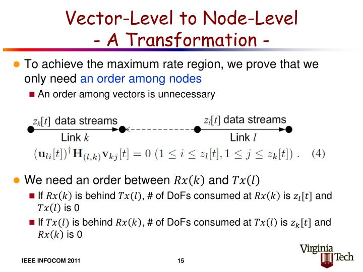 Vector-Level to Node-Level