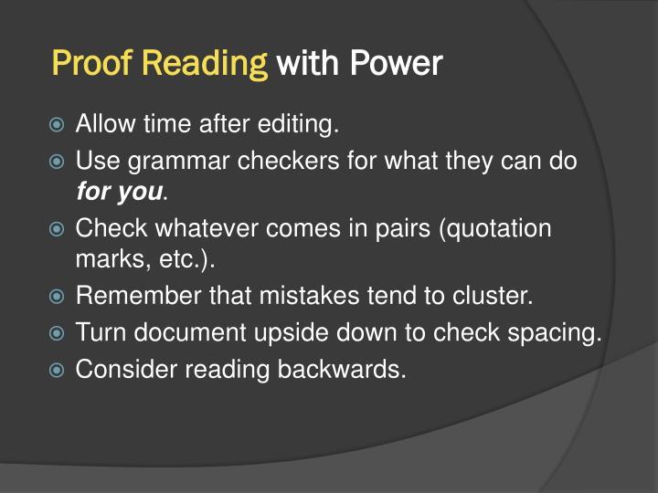 Proof Reading