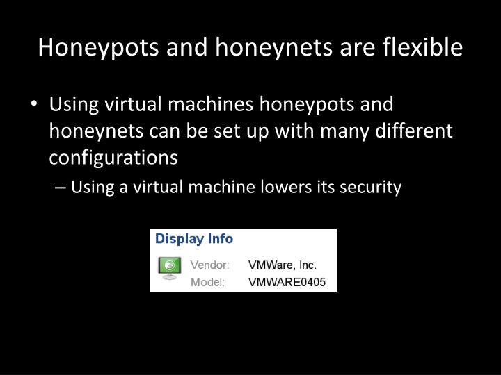 Honeypots and honeynets are flexible