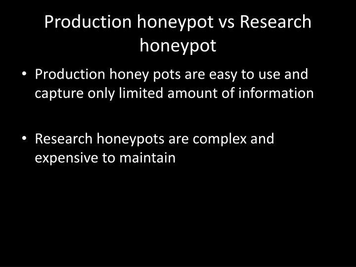 Production honeypot