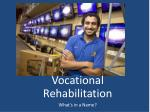 vocational rehabilitation what s in a name