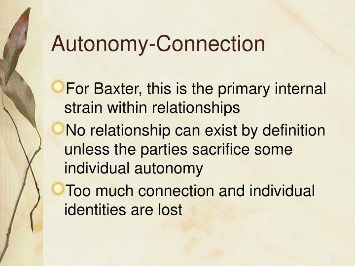 Autonomy-Connection