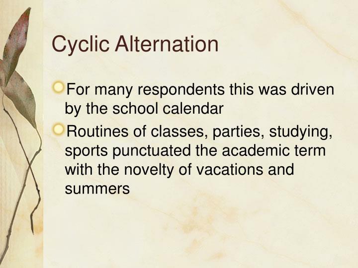 Cyclic Alternation