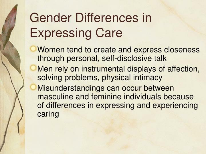Gender Differences in Expressing Care