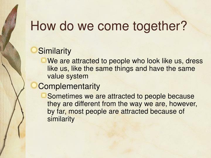 How do we come together?