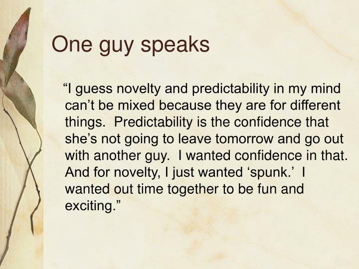 One guy speaks