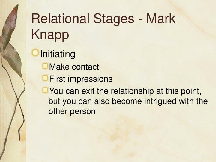 Relational Stages - Mark Knapp
