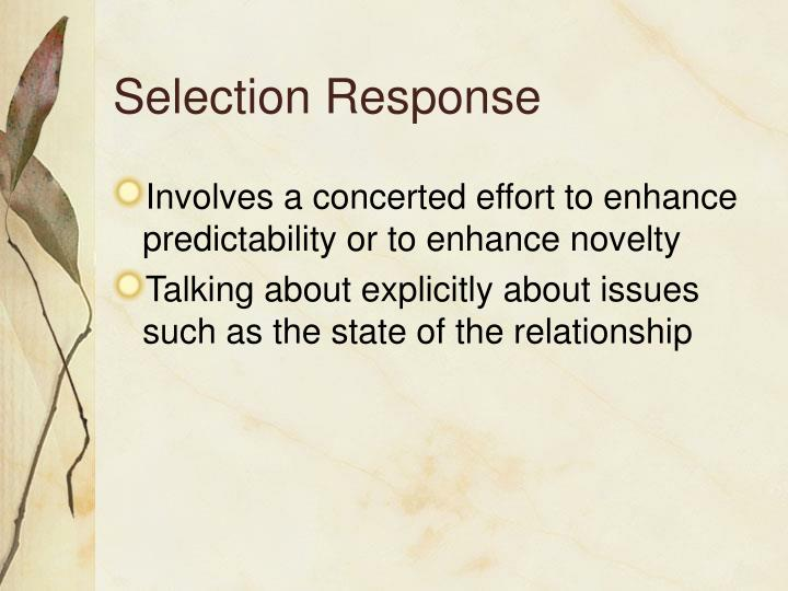 Selection Response