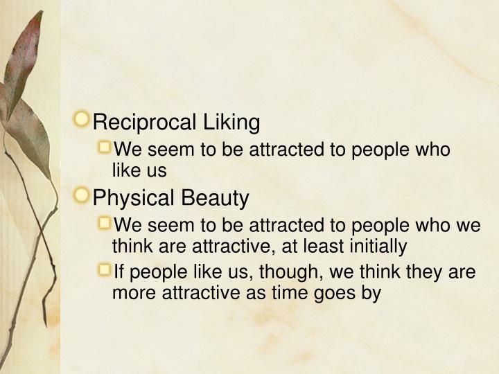 Reciprocal Liking