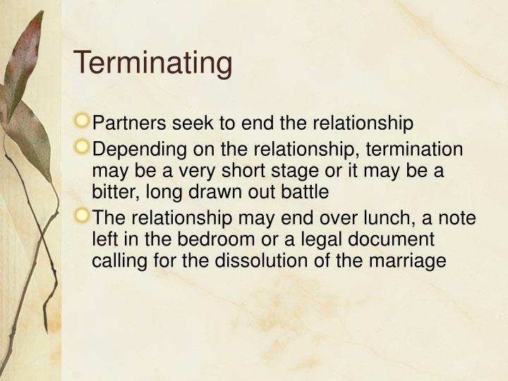 Terminating