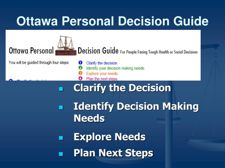 Ottawa Personal Decision Guide