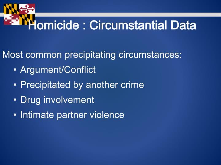 Homicide : Circumstantial Data