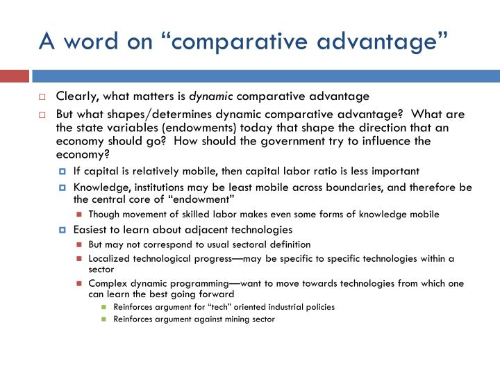 "A word on ""comparative advantage"""