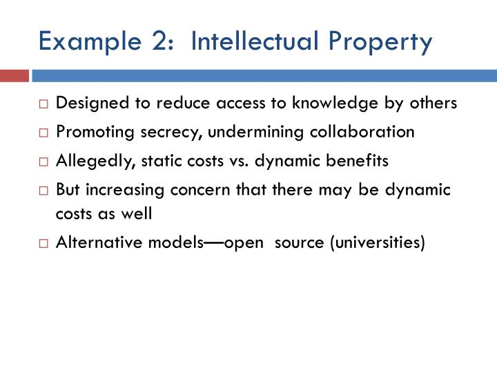 Example 2:  Intellectual Property