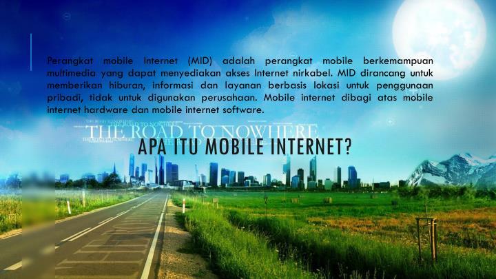 Apa itu mobile internet?