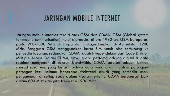 Jaringan mobile internet
