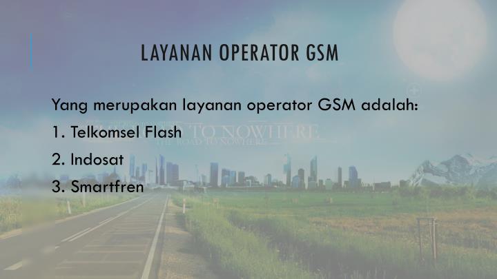 Layanan operator gsm
