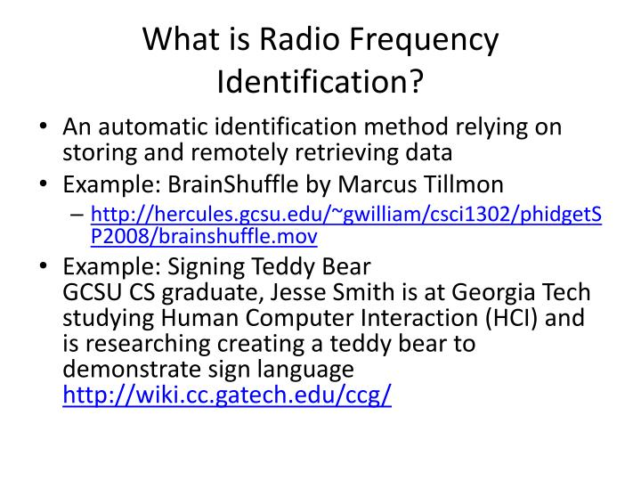 What is Radio Frequency Identification?