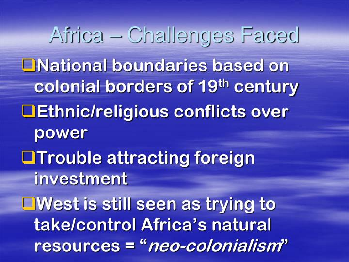 Africa – Challenges Faced