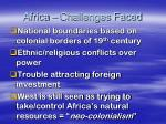 africa challenges faced