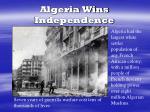 algeria wins independence