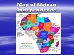 map of african independence