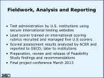 fieldwork analysis and reporting