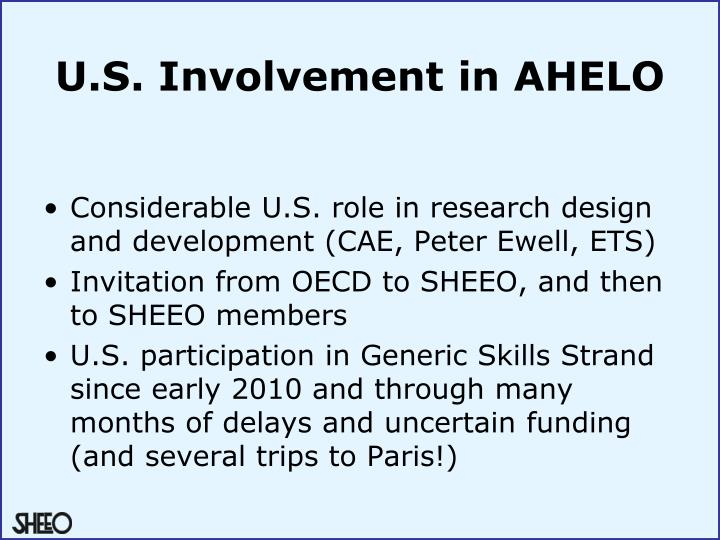 U.S. Involvement in AHELO