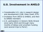 u s involvement in ahelo