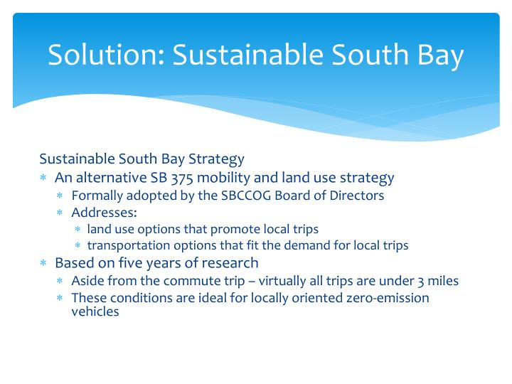 Solution sustainable south bay