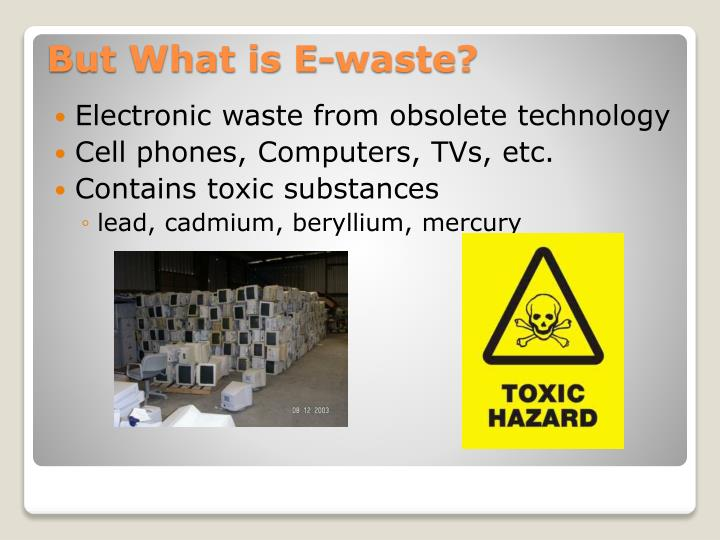 Electronic waste from obsolete technology