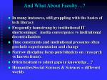 and what about faculty