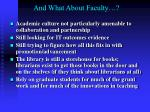 and what about faculty1