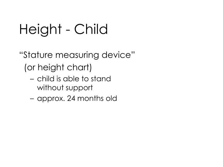 Height - Child
