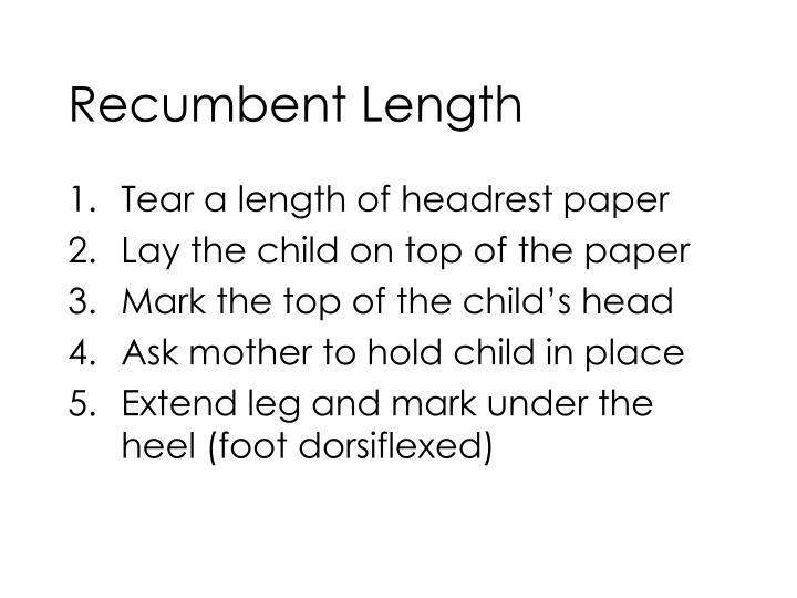 Recumbent Length