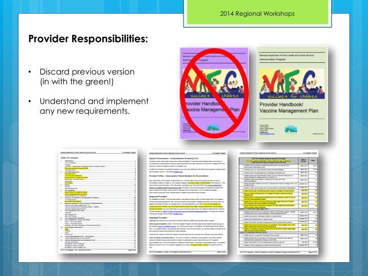 Provider Responsibilities: