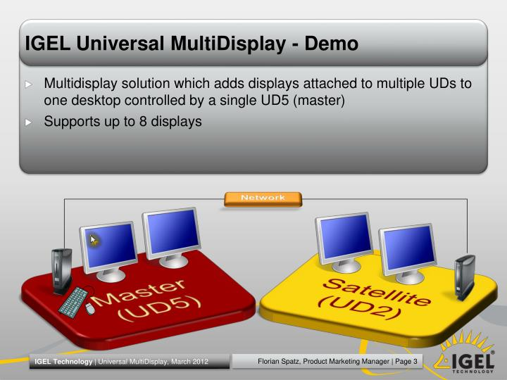 Igel universal multidisplay demo