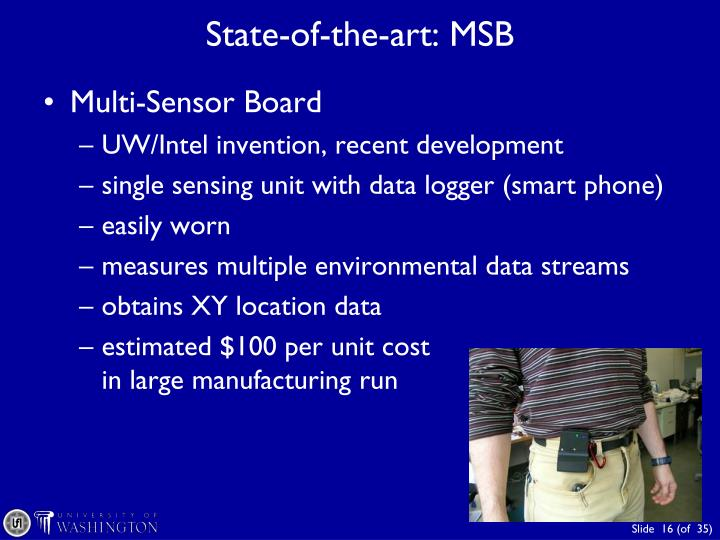 State-of-the-art: MSB
